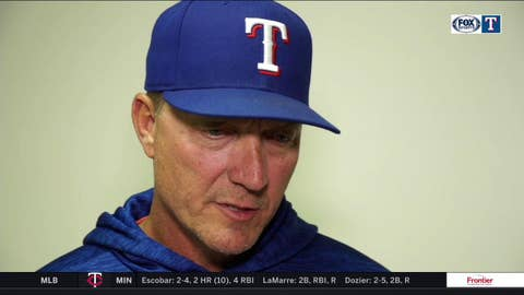 Jeff Banister talks pitching in loss against Angels