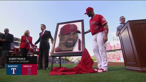 Angels, Albert Pujols celebrate his 3000th hit