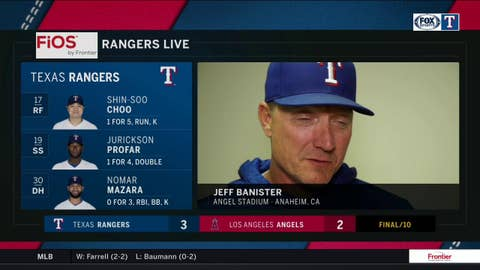 Jeff Banister on huge confidence-boosting win over LA Angels
