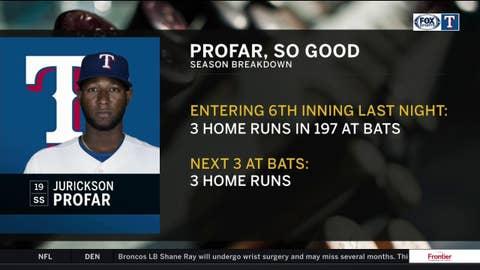 Jurickson Profar hits 3 home runs in 3 At Bats | Rangers Live