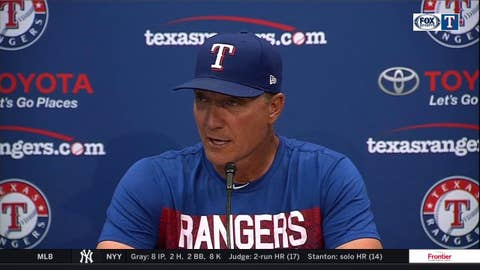 Jeff Banister on Bartolo's historic night, Rangers win over A's