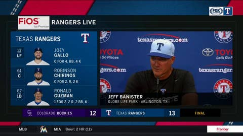 Jeff Banister CANNOT BE PROUDER of Jose Trevino