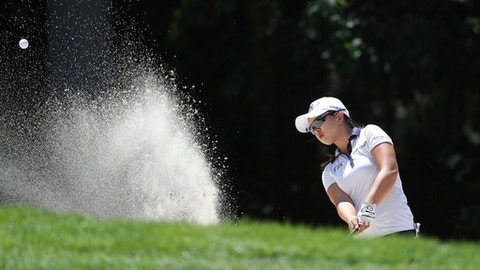 Sei Young Kim, of South Korea, hits from the sand on the sixth hole during the second round of the LPGA Volvik Championship golf tournament at the Travis Pointe Country Club, Friday, May 25, 2018, in Ann Arbor, Mich. (AP Photo/Carlos Osorio)