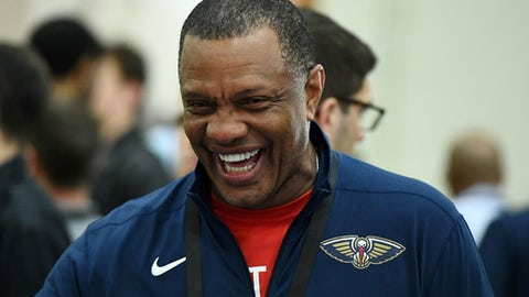 CHICAGO, IL - MAY 17:  Head coach Alvin Gentry of the New Orleans Pelicans attends Day One of the NBA Draft Combine at Quest MultiSport Complex on May 17, 2018 in Chicago, Illinois.  (Photo by Stacy Revere/Getty Images)