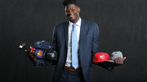 CHICAGO, IL - MAY 15:  NBA Draft Prospect, Mohamed Bamba poses for a portrait before the NBA Draft Lottery on May 15, 2018 at The Palmer House Hilton in Chicago, Illinois. (Photo by David Sherman/NBAE via Getty Images)