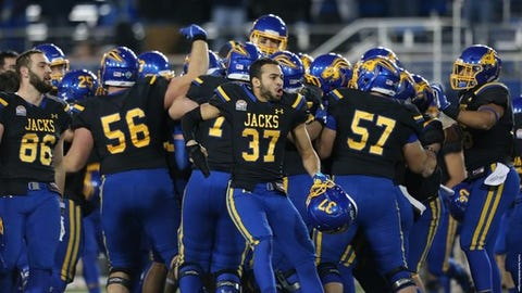 """<p>(STATS) - Some might say you're living in an alternate universe if you're not picking North Dakota State or James Madison to win the FCS national championship this season.</p><p>The two have become the dominant powers in the subdivision. North Dakota State has won a record-tying six of the last seven titles, while James Madison won the other one in 2016 and finished as the national runner-up to the Bison last season.</p><p>But there are enough upset winners across sports to know the original storyline doesn't follow the script. So if somehow the 2018 champ isn't North Dakota State or James Madison, who's it gonna be?</p><p>Twenty media members who vote in the STATS FCS Top 25 considered the rest of the field and rated Missouri Valley power South Dakota State with the best chance. The Jackrabbits drew seven of the 20 votes, while Big South champ Kennesaw State was second with five votes. In addition, Eastern Washington drew four votes, Sam Houston State three and New Hampshire one.</p><p>South Dakota State (11-3) reached the national semifinals for the first time last season, although the Jackrabbits were pummeled by James Madison 51-16. They have defeated North Dakota State in the regular season in two consecutive years.</p><p>""""The Jacks are playoff seasoned and just might break through with a difference maker like Taryn Christion at quarterback,"""" a Missouri Valley Conference voter said. """"And with Christian Rozeboom at linebacker, the defense should be solid again.""""</p><p>Kennesaw State is entering just its fourth season as a program, but seemingly has skipped over steps in the growth process. Behind the nation's top-ranked rushing offense, the Owls (12-2) reached the national quarterfinals last year.</p><p>""""The Owls have everyone back from one of the top rushing attacks in the nation, which will help it become one of the best offenses in the nation,"""" an Ohio Valley Conference voter said. """"Chandler Burks is such a big weapon at quarterback and the Owls defense wa"""