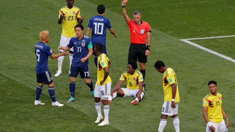 The Latest: Colombia scores, takes group lead late in 2nd