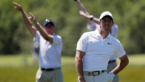 The Open: Errant shot from Tiger Woods narrowly misses fans