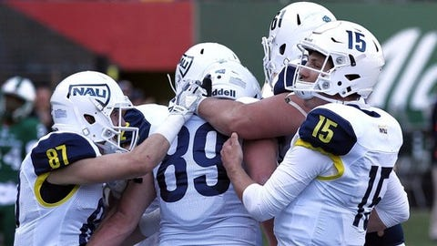 """<p>(STATS) - Northern Arizona announced a pair of home-and-home FCS nonconference series with South Dakota and Sam Houston State on Tuesday.</p><p>The Lumberjacks from the Big Sky Conference will host South Dakota on Sept. 12, 2020 in Flagstaff before making the return trip to Vermillion on Sept. 11, 2021. They will open the 2021 season at home against Sam Houston State on Sept. 4, 2021, and travel to Huntsville, Texas, on Sept. 10, 2022.</p><p>""""This keeps with our priority to schedule challenging nonconference opponents early in the season to prepare us for the always tough competition we will face on an annual basis in the Big Sky Conference,"""" NAU coach Jerome Souers said.</p><p>The Lumberjacks split two previous games against South Dakota and hold a 2-1 all-time lead over Sam Houston.</p>"""