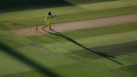 Australia's Glenn Maxwell is clean bowled by England's Chris Jordan during the International Twenty20 cricket Match between England and Australia at Edgbaston, Birmingham, England, Wednesday, June 27, 2018. (Mike Egerton/PA via AP)