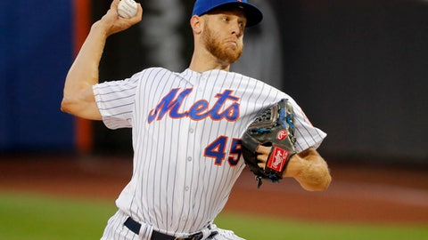 New York Mets starting pitcher Zack Wheeler delivers against the Pittsburgh Pirates during the first inning of a baseball game Wednesday, June 27, 2018, in New York. (AP Photo/Julie Jacobson)
