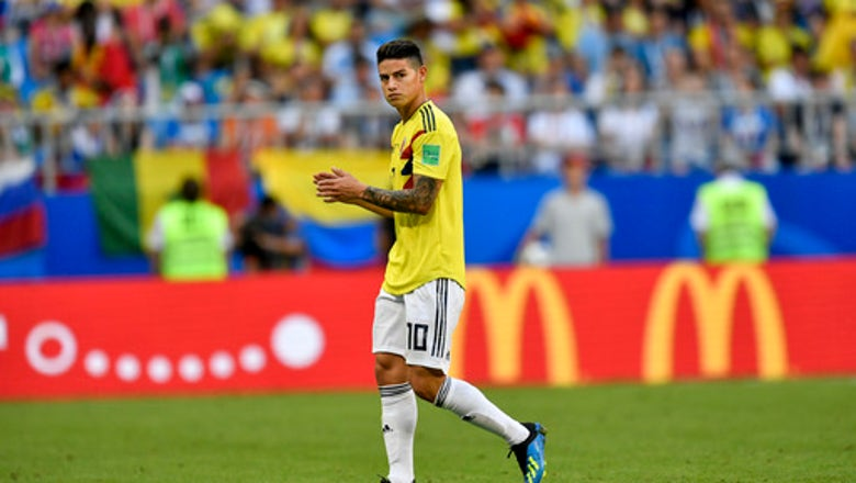 Colombia playmaker James Rodriguez misses training