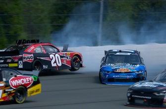 Justin Allgaier and Christopher Bell wreck at Pocono   2018 NASCAR XFINITY SERIES   FOX NASCAR