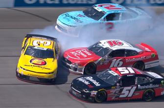 Burton, Reddick, & Reed start multi-car pile-up at Chicagoland | 2018 NASCAR XFINITY SERIES