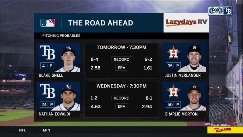 Blake Snell aims to cool off sizzling Astros squad Tuesday