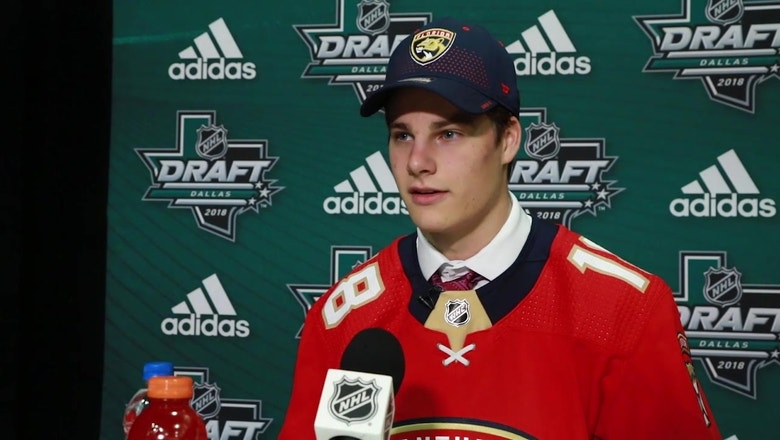 Native Floridian, Boston College star Logan Hutsko talks about being drafted by the Panthers