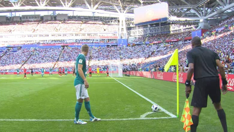 SON H. (Korea Republic) has a shot which is off target