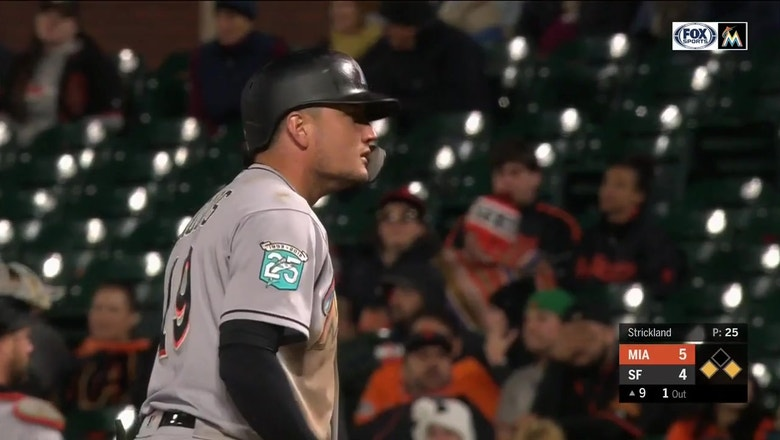 WATCH: Miguel Rojas steps up with 3 key RBI