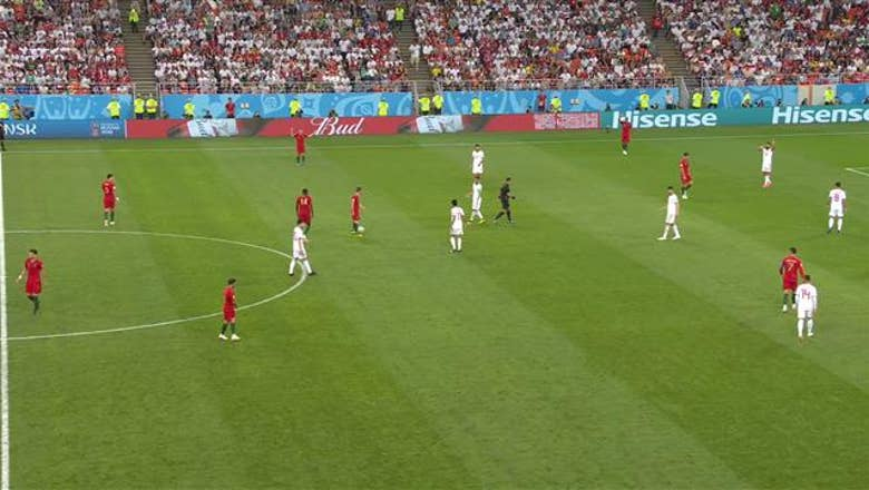 ADRIEN SILVA (Portugal) has a shot which is off target
