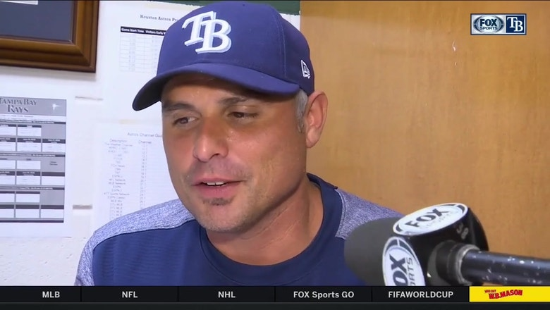Kevin Cash reacts to walk-off loss to Astros