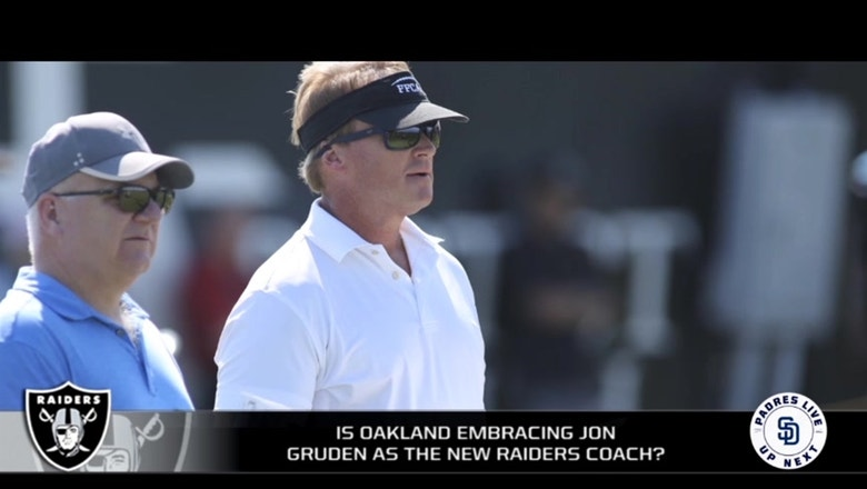 How are Oakland fans embracing Jon Gruden and the upcoming move to Las Vegas?