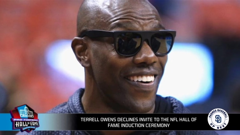 Hardwick and Richards: Terrell Owens skipping the HOF induction is a 'money grab'
