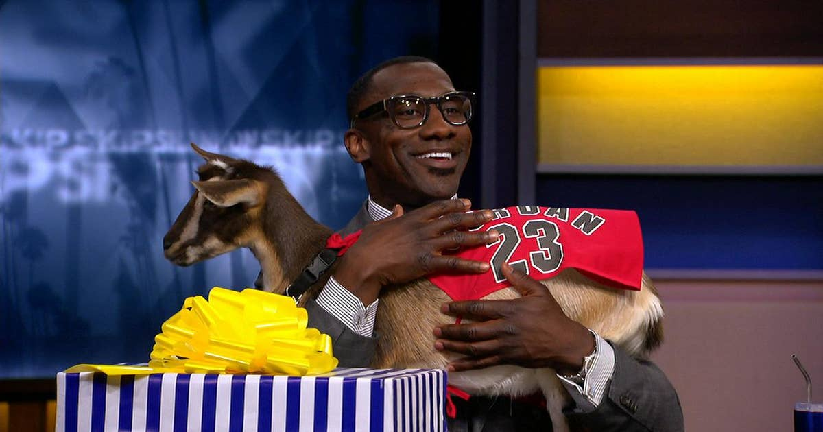 Skip Bayless surprised Shannon Sharpe with a real goat for ...