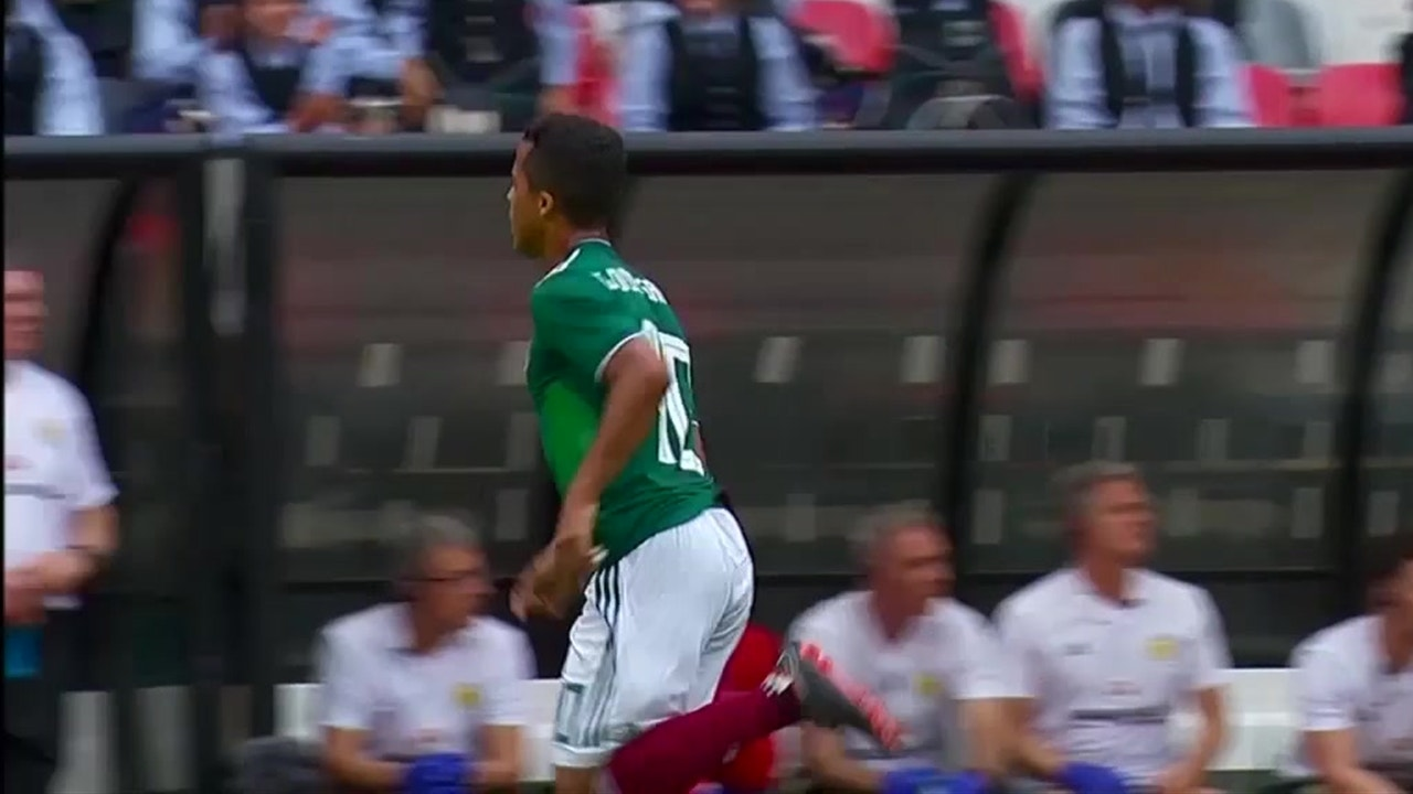 8215af5296e Giovani dos Santos' early goal gives Mexico the win | 2018 International  Friendly Highlights | Mexico vs. Scotland | FOX Sports
