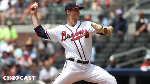 Jun 13, 2018; Atlanta, GA, USA; Atlanta Braves starting pitcher Michael Soroka (40) delivers a pitch to a New York Mets batter in the fourth inning at SunTrust Park. Mandatory Credit: Jason Getz-USA TODAY Sports