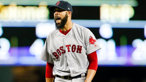 Jun 14, 2018; Seattle, WA, USA; Boston Red Sox starting pitcher David Price (24) reacts after getting the final out of the seventh inning against the Seattle Mariners at Safeco Field. Mandatory Credit: Joe Nicholson-USA TODAY Sports