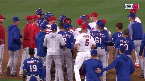 empers flare after last out made in loss to Angels | Rangers Live