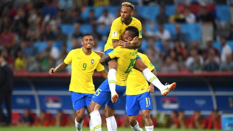 RECAP: Brazil coasts by Serbia 2-0, advances to knockout round