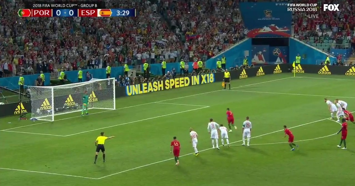 Watch Cristiano Ronaldo score on a gorgeous penalty kick ...