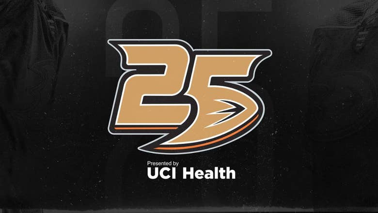Ducks unveil 25th anniversary logo, season presenting sponsor; Oct. 8 date vs. Detroit