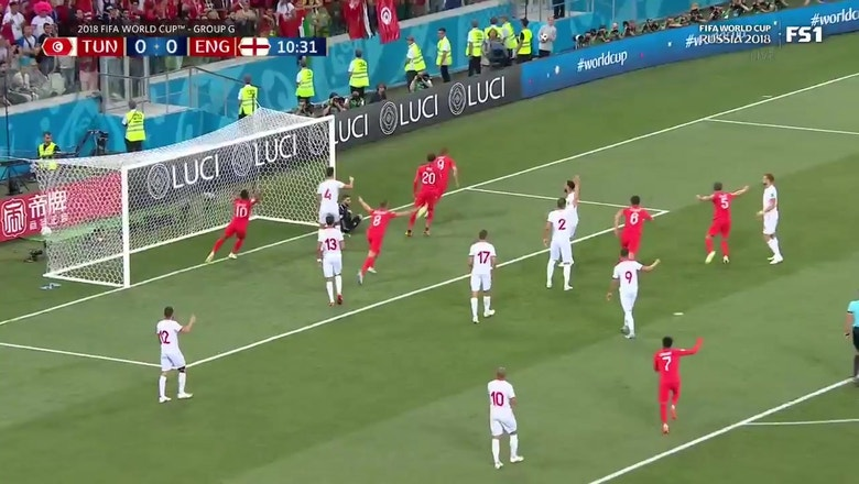 8de911012 Harry Kane buries England s first goal of the 2018 FIFA World Cup ...