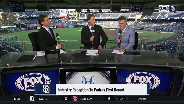 What was the baseball industry's reception to the Padres first round pick?
