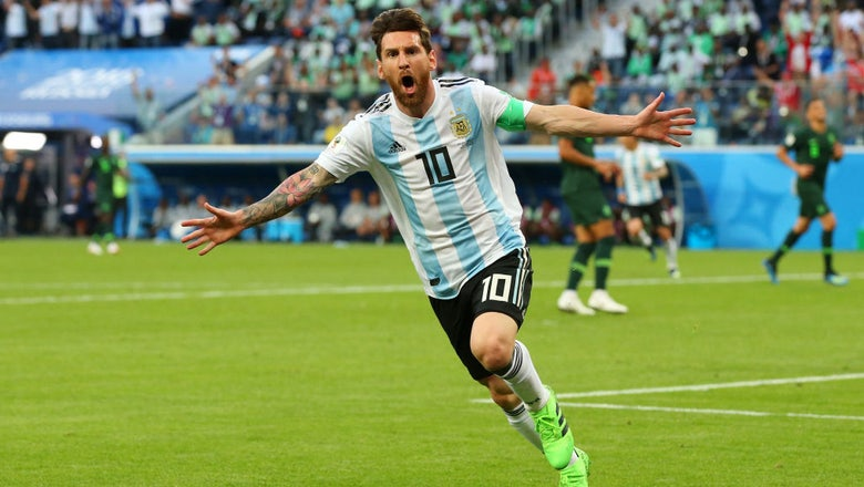 83da30f2f6ba Watch Lionel Messi score the 100th goal of the 2018 FIFA World Cup   FOX  Sports