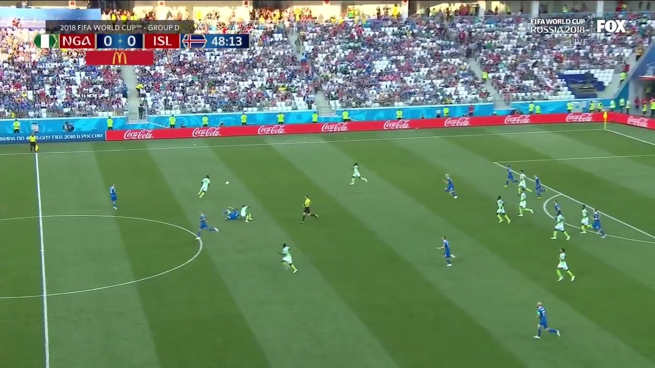 Nigeria scores an absolutely gorgeous goal vs  Iceland