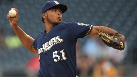 Freddy Peralta, Brewers starting pitcher (↑ UP)