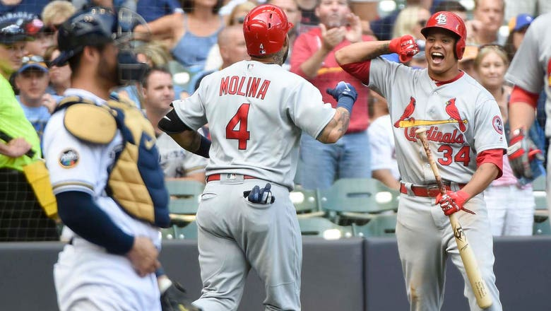 Molina's two homers jolt Cards past Brewers