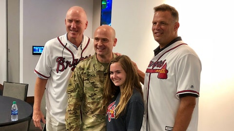 Hosting Fort Benning military personnel and families at Braves game vs. Nationals