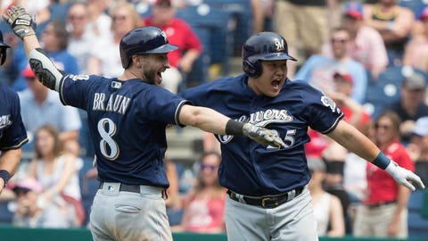 Ji-Man Choi, Brewers first baseman (↑ UP then ↓ DOWN)