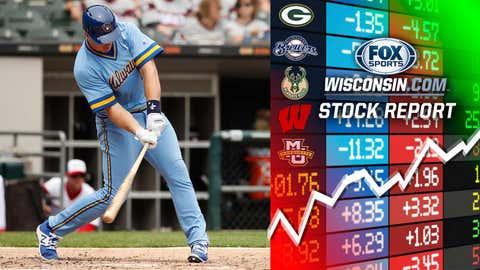 Erik Kratz, Brewers catcher (↑ UP)