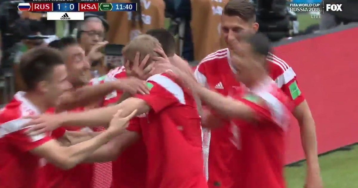 ecb13066c40 Watch Russia score the first goal of the 2018 FIFA World Cup | FOX Sports