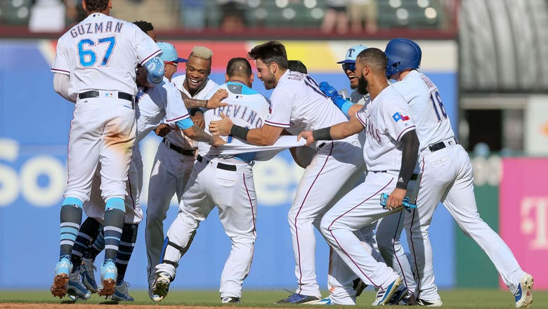 HIGHLIGHTS: Trevino has special moment on first Father's Day in Rangers miracle comeback win over Rockies