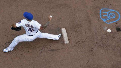 Junior Guerra, Brewers pitcher  (⬇ DOWN)