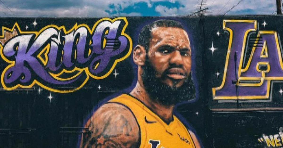 shannon sharpe reacts  lebrons king  la mural vandalized fox sports