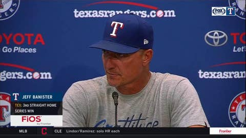 Jeff Banister talks record-tying win for Bartolo Colon