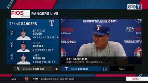 Jeff Banister on determination of Chirinos