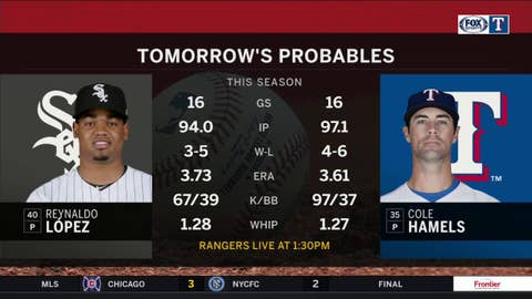 Cole Hamels goes for sweep against Chicago | Rangers Live